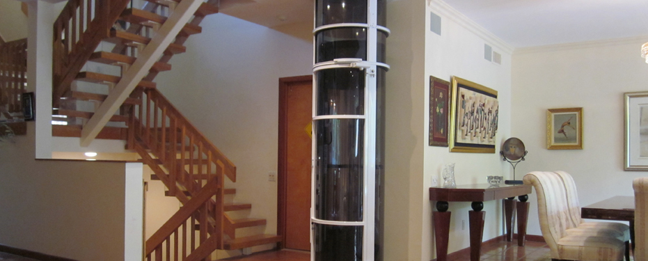 What are the weight restrictions of a glass elevator for Small elevators for homes